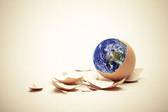 Birth of world concept Stock Photos