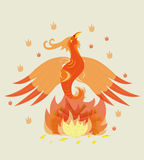 Birth of a young phoenix. Illustration. vector Stock Image