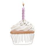 birthady杯形蛋糕eps文件粉红色向量 库存照片