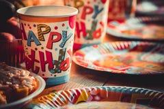 birthday2 ευτυχής Στοκ Εικόνες