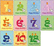 Birthday. Collection Illustration for happy  birthday Stock Images