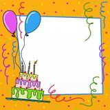 Birthday. Colorful background for birthday party Stock Photos
