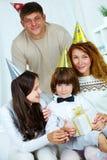 At birthday Stock Image
