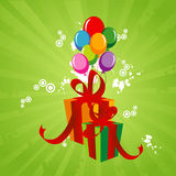 Birthday abstract vector. Birthday balloons and gifts abstract vector composition Royalty Free Stock Image