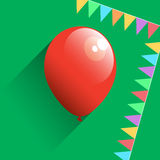 Birthday air balloon, vector Stock Photos