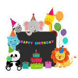 Birthday Animals Royalty Free Stock Photo