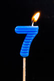Birthday-anniversary candles  Number. 7 Royalty Free Stock Photography