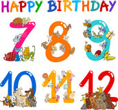 Birthday Anniversary cartoons set Stock Image