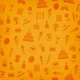 Birthday, anniversary, jubilee party invitation card, postcard design. Stock Photography
