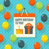 Birthday, anniversary, jubilee party invitation card, postcard design. Vector illustration. Stock Photo