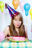 Birthday. attractive young girl Stock Images