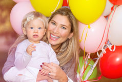 Birthday of baby girl Stock Image
