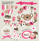 Birthday/ baby shower card Royalty Free Stock Image