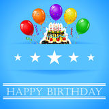 Birthday background with balloon Stock Photo