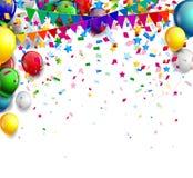 Birthday background with balloon Royalty Free Stock Photos