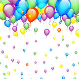 Birthday Background with Balloons Stock Images