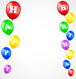 Birthday background with balloons. Illustration of Birthday background with balloons Royalty Free Stock Photo