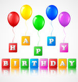 Birthday background with balloons Stock Image