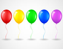Birthday background with balloons. Illustration of Birthday background with balloons Royalty Free Stock Photos