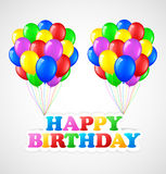 Birthday background with balloons Royalty Free Stock Images
