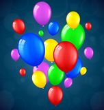 Birthday background with balloons Stock Photos