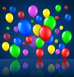 Birthday background with balloons. Illustration of Birthday background with balloons Stock Photos