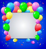 Birthday background with balloons. Illustration of Birthday background with balloons Stock Images