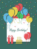 Birthday background with balloons. Vector illustration Royalty Free Stock Image