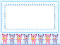 Birthday  background with  bears Stock Images