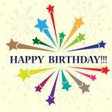 Birthday background. Big firework with birthday sample text. eps10 Royalty Free Stock Photos