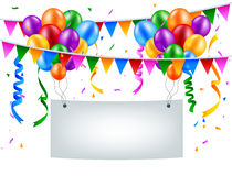 Birthday background with blank sign Royalty Free Stock Images