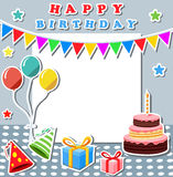 Birthday background with blank sign royalty free illustration