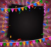 Birthday background with blank sign Stock Image