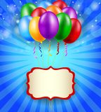Birthday background with blank sign Stock Photos