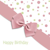 Birthday background with bow Royalty Free Stock Photos