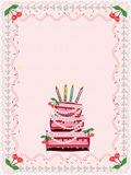 Birthday  background with cake Royalty Free Stock Photography