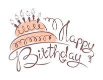 Birthday background with cake. Illustration -- Birthday background with cake Royalty Free Stock Image