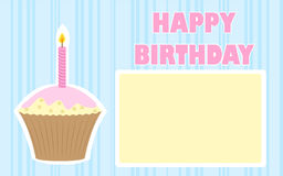 Birthday background. With birthday cake with one candle Stock Photography
