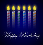 Birthday background with candles. Illustration of Birthday background with candles Stock Image