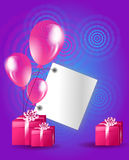 Birthday background card Royalty Free Stock Images