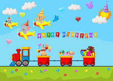 Birthday background cartoon Royalty Free Stock Photo