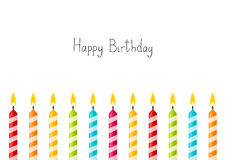 Birthday background with color candles Royalty Free Stock Photos