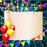 Birthday background with colorful balloons Royalty Free Stock Image