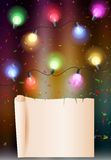 Birthday background with colorful bulb Royalty Free Stock Photos