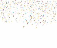 Birthday background with confetti Royalty Free Stock Photos