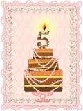 Birthday  background five years Stock Photo