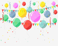 Birthday background with flying balloons Royalty Free Stock Image