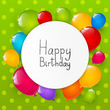 Birthday background with helium balloons 8 Royalty Free Stock Photos