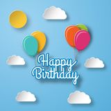 Birthday background. Holiday template. Vector illustration. Royalty Free Stock Photo