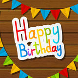 Birthday background Stock Images